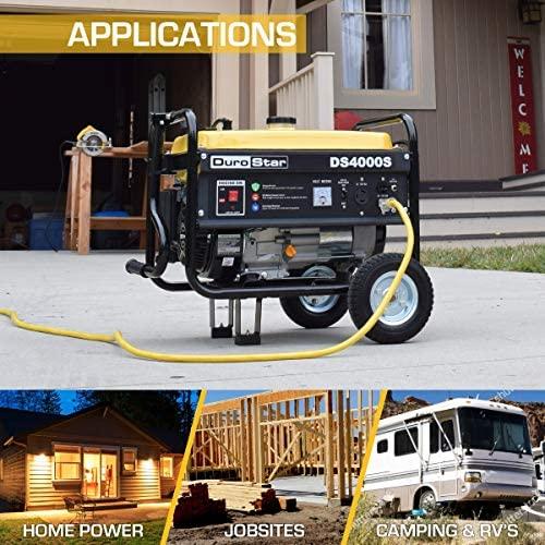 51 e+GY30lL. AC  - DuroStar DS4000S 4000 Watt Portable Recoil Start Gas Fuel Generator