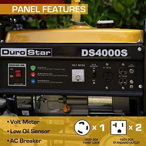 510IurSz2tL. AC  - DuroStar DS4000S 4000 Watt Portable Recoil Start Gas Fuel Generator