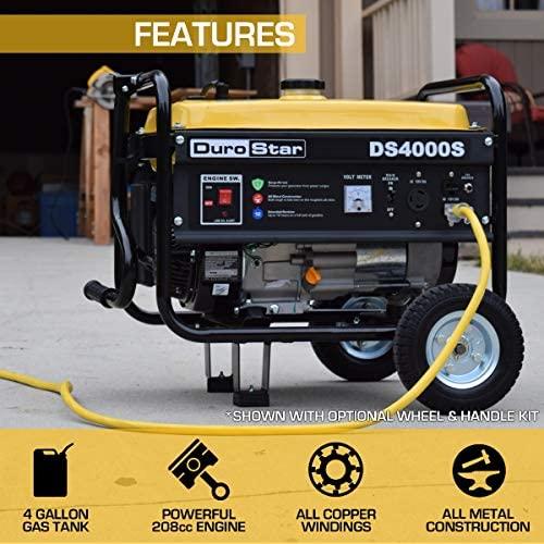 51TKVnlxiTL. AC  - DuroStar DS4000S 4000 Watt Portable Recoil Start Gas Fuel Generator