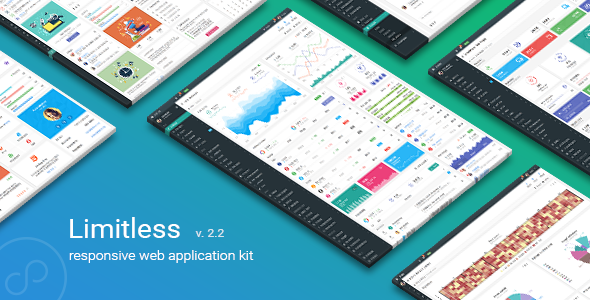 01 preview.  large preview - Limitless - Responsive Web Application Kit