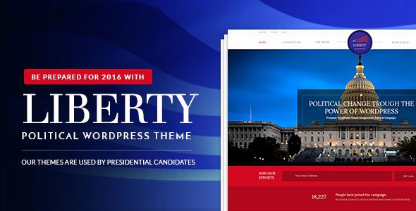 01 promo.  large preview - Liberty - Your Political WordPress Theme