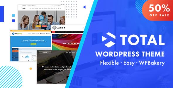01 totamtheme main sale.  large preview - Total - Responsive Multi-Purpose WordPress Theme
