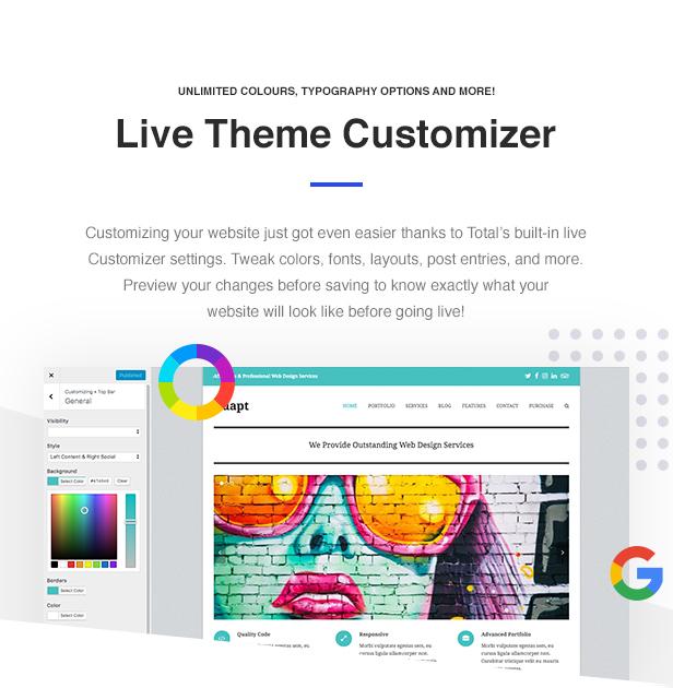 06 Total Customizer - Total - Responsive Multi-Purpose WordPress Theme