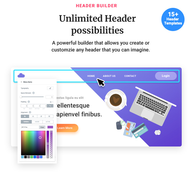 07 header - Jupiter - Elementor Multi-Purpose Theme