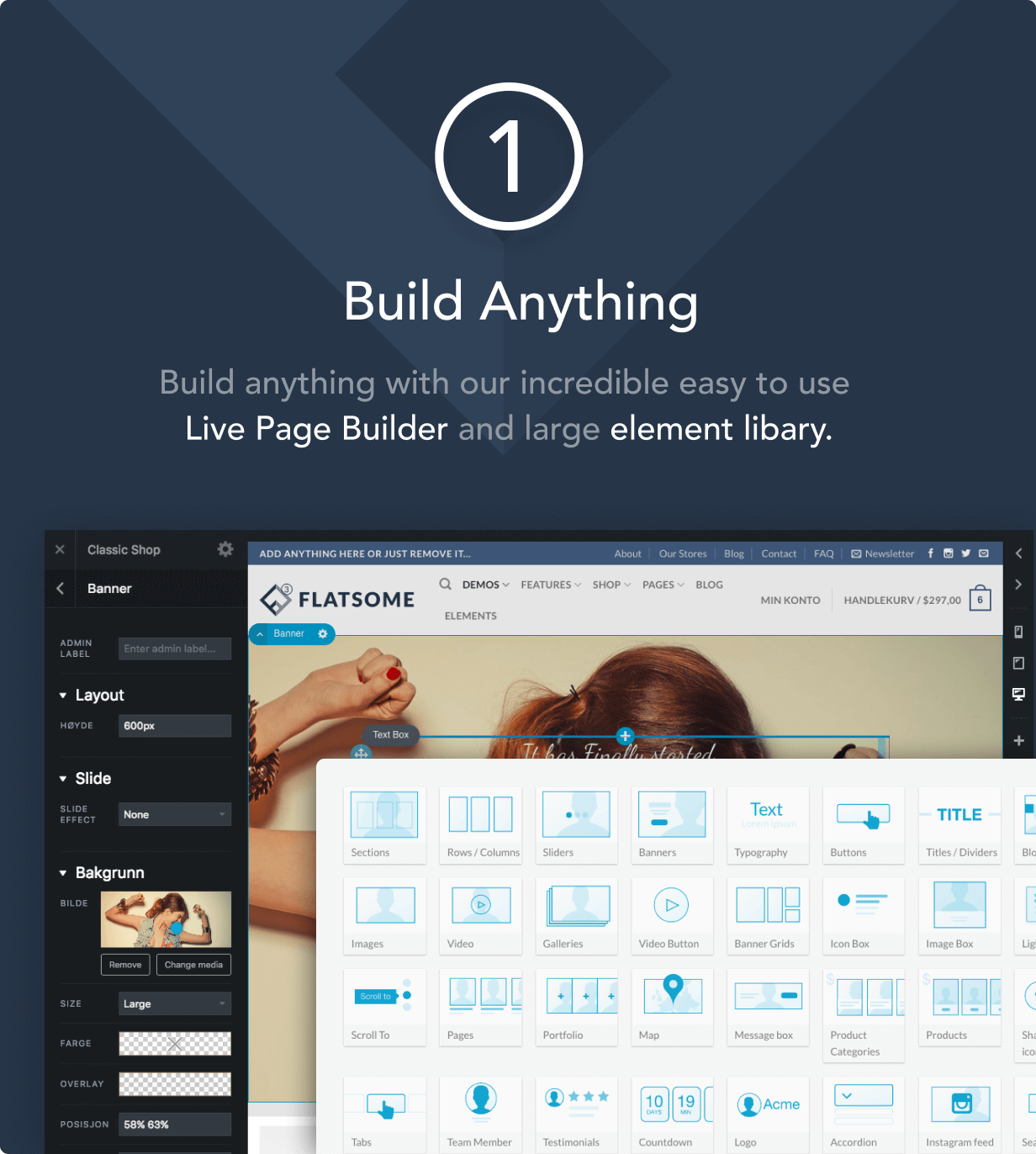 1 buid anything - Flatsome | Multi-Purpose Responsive WooCommerce Theme