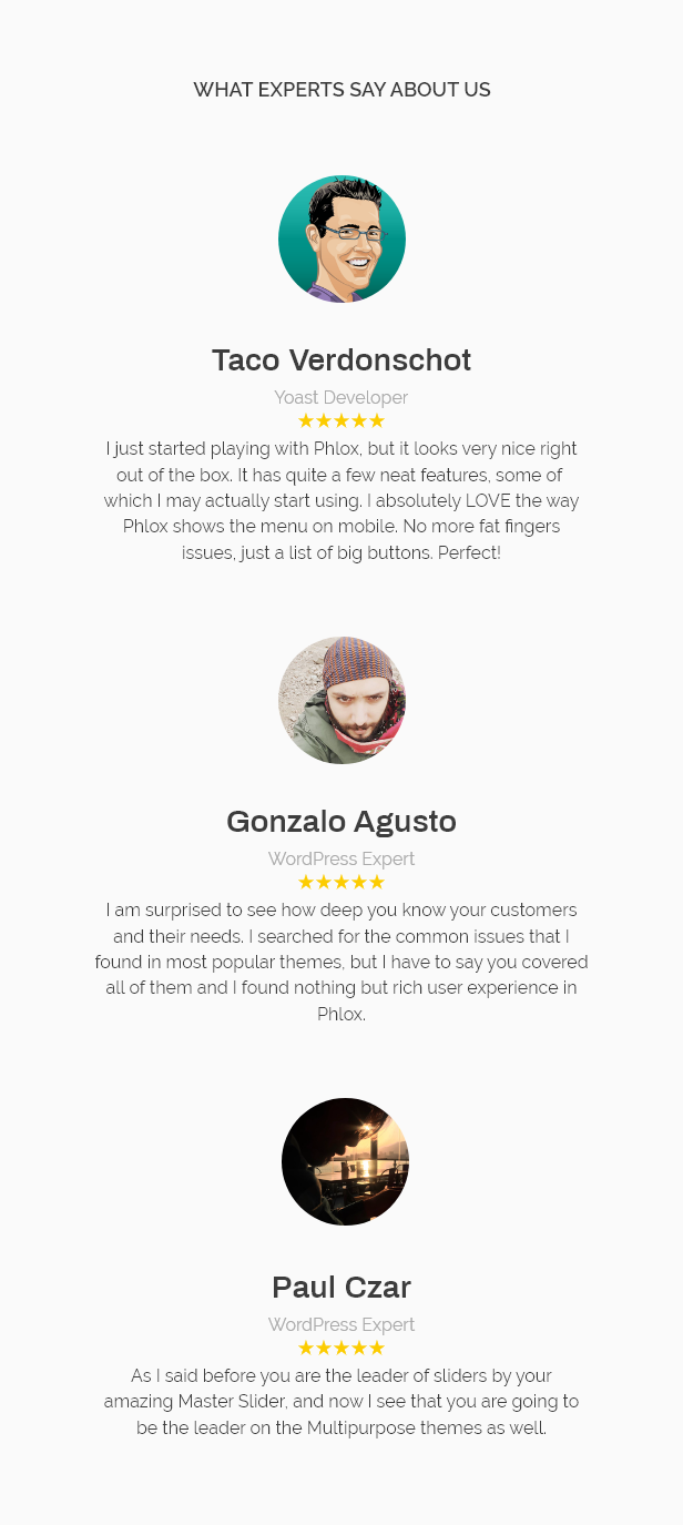 10 testimonials - Phlox Pro - Elementor MultiPurpose WordPress Theme