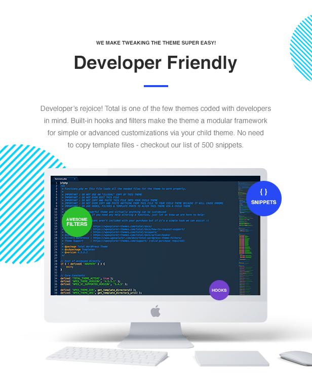 11 Total Developer Friendly - Total - Responsive Multi-Purpose WordPress Theme