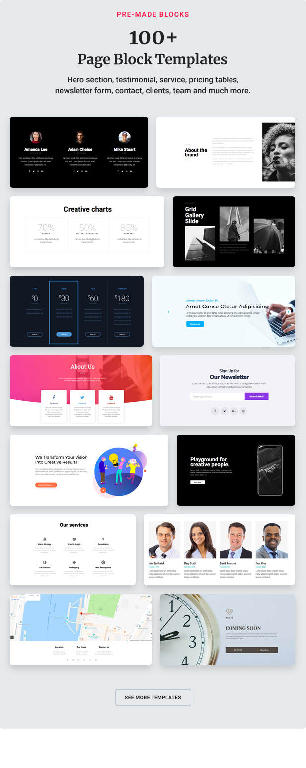 13 block templates - Jupiter - Elementor Multi-Purpose Theme