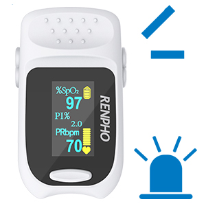 13cfc370 e3a7 4029 9495 c7dbe9b20cd9.  CR0,0,300,300 PT0 SX300 V1    - Pulse Oximeter Fingertip, RENPHO Accurate Reading Pediatric and Adult Oxygen Monitor Medical Use, Easy to Use Blood Oxygen Saturation Meter, Batteries and Lanyard, Spo2 Oximeter Portable with Alarm