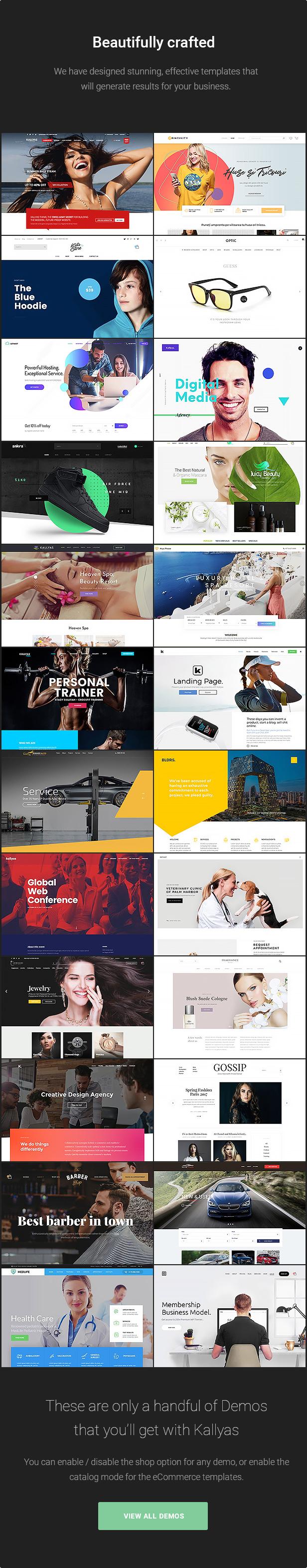 14.beautiful designs - KALLYAS - Creative eCommerce Multi-Purpose WordPress Theme