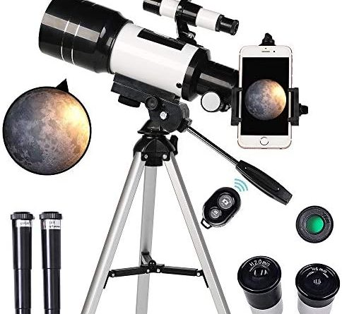 1595508485 51MdCqFWc5L. AC  484x445 - ToyerBee Telescope for Kids& Beginners, 70mm Aperture 300mm Astronomical Refractor Telescope, Tripod& Finder Scope- Portable Travel Telescope with Smartphone Adapter and Wireless Remote