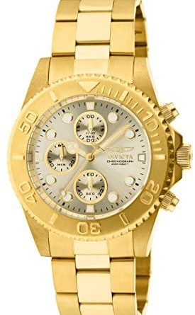 1595726132 41OC0G6F7HL. AC  275x445 - Invicta Men's 1774  Pro-Diver Collection 18k Gold Ion-Plated Stainless Steel Watch