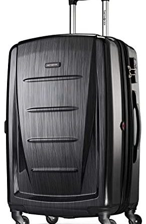 1595856446 41v8iKZLLPL. AC  291x445 - Samsonite Winfield 2 Hardside Expandable Luggage with Spinner Wheels, Brushed Anthracite, Checked-Medium 24-Inch