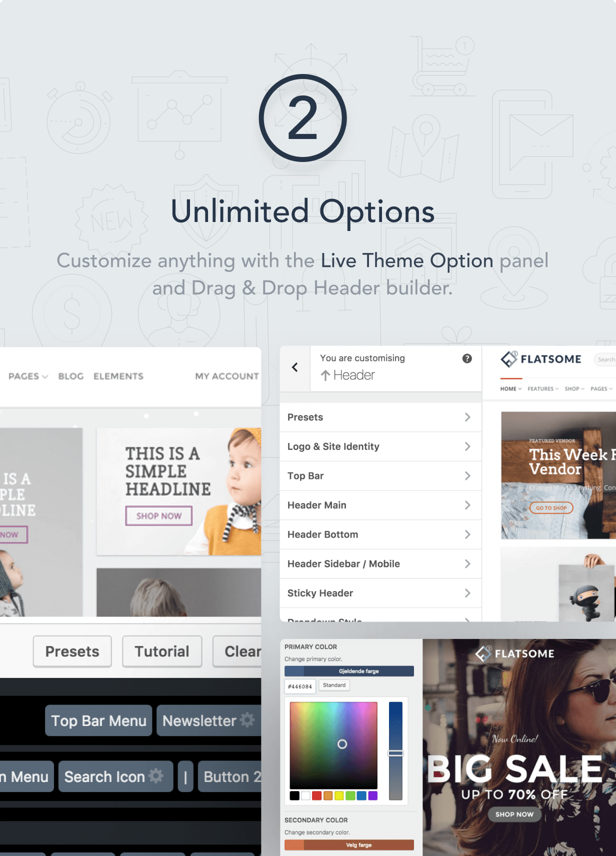 2 customize anything - Flatsome | Multi-Purpose Responsive WooCommerce Theme