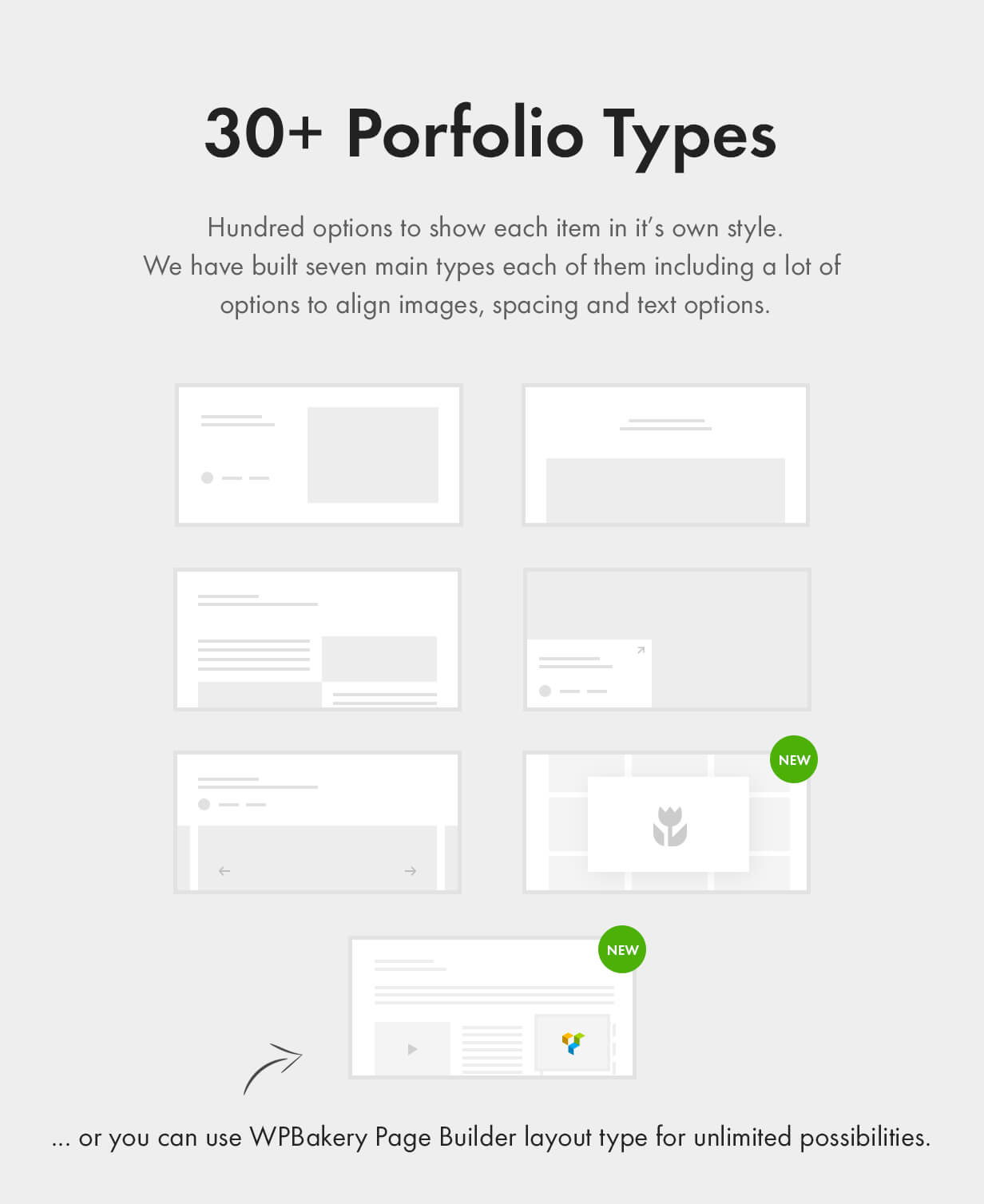 30 portfolio types - Kalium - Creative Theme for Professionals