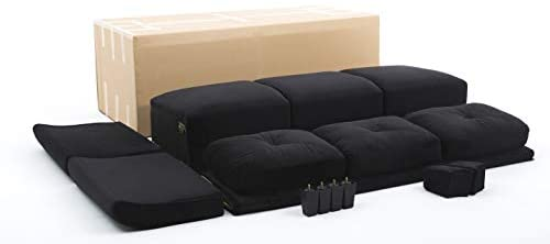 31AhvBoBRQL. AC  - Lifestyle Solutions Collection Grayson Micro-fabric Sofa, Black