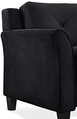 31M Tc8Lk5L. AC  - Lifestyle Solutions Collection Grayson Micro-fabric Sofa, Black