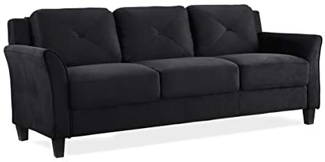 31QSctWZL. AC  - Lifestyle Solutions Collection Grayson Micro-fabric Sofa, Black