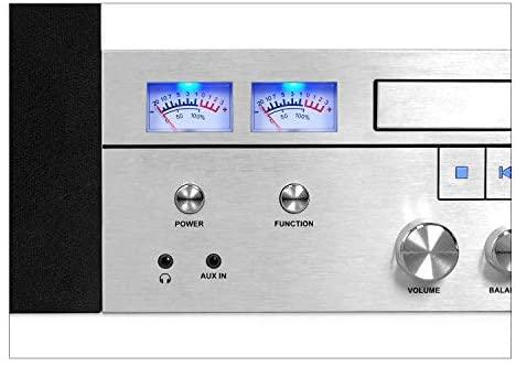 41 Tj1rBfgL. AC  - Innovative Technology Victrola Bluetooth CD Stereo System, Silver