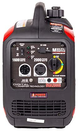 419PLgDOZKL. AC  - A-iPower SUA2000iV 2000 Watt Portable Inverter Generator Quiet Operation, RV Ready