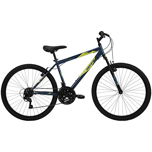 41AL7 5ijML - Huffy Hardtail Mountain Bike, Stone Mountain 24 inch 21-Speed, Lightweight, Dark Blue