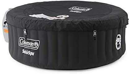41CNfuZG1zL. AC  - Coleman SaluSpa Portable 4 Person Outdoor Inflatable Hot Tub Spa with 60 AirJets and Pump, Black