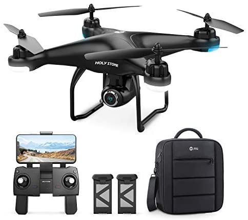 41GVP54N61L. AC  - Holy Stone HS120D GPS Drone with Camera for Adults 2K UHD FPV, Quadcotper with Auto Return Home, Follow Me, Altitude Hold, Tap Fly Functions, Includes 2 Batteries and Carrying Backpack