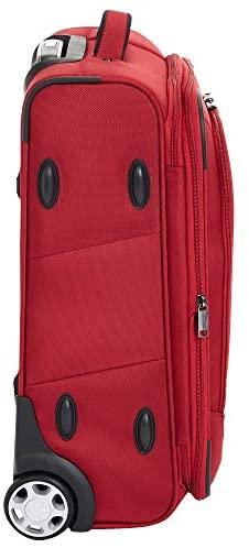 41I6ox4UHaL. AC  - AmazonBasics Upright Spinner Expandable Softside Suitcase Luggage with TSA Lock and Wheels