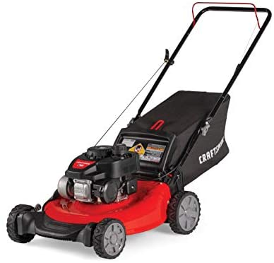 41JutTAgERL. AC  - CRAFTSMAN M105 140cc 21-Inch 3-in-1 Gas Powered Push Lawn Mower with Bagger