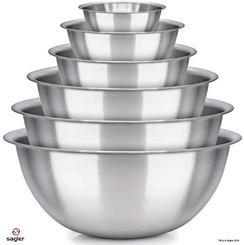 41M2rNxpK8L. AC  - mixing bowls - mixing bowl Set of 6 - stainless steel mixing bowls - Polished Mirror kitchen bowls - Set Includes ¾, 2, 3.5, 5, 6, 8 Quart - Ideal For Cooking & Serving - Easy to clean - Great gift