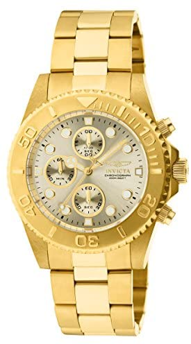 41OC0G6F7HL. AC  - Invicta Men's 1774  Pro-Diver Collection 18k Gold Ion-Plated Stainless Steel Watch