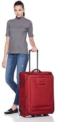 41Se6NLLGyL. AC  - AmazonBasics Upright Spinner Expandable Softside Suitcase Luggage with TSA Lock and Wheels