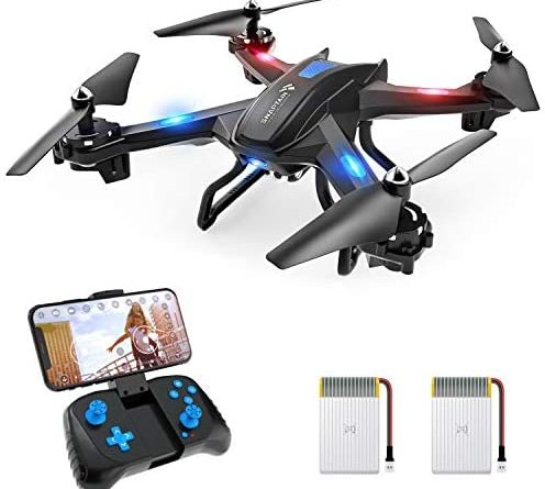 41cATxTcO L. AC  496x445 - SNAPTAIN S5C WiFi FPV Drone with 720P HD Camera,Voice Control, Wide-Angle Live Video RC Quadcopter with Altitude Hold, Gravity Sensor Function, RTF One Key Take Off/Landing, Compatible w/VR Headset