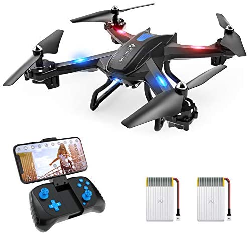 41cATxTcO L. AC  - SNAPTAIN S5C WiFi FPV Drone with 720P HD Camera,Voice Control, Wide-Angle Live Video RC Quadcopter with Altitude Hold, Gravity Sensor Function, RTF One Key Take Off/Landing, Compatible w/VR Headset