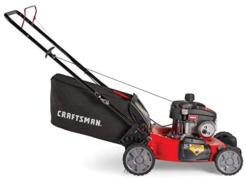 41cBU6JMkAL. AC  - CRAFTSMAN M105 140cc 21-Inch 3-in-1 Gas Powered Push Lawn Mower with Bagger