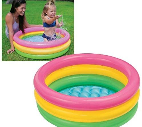 41cnKkNohkL. AC  498x445 - Intex Sunset Glow Baby Pool (34 in x 10 in)