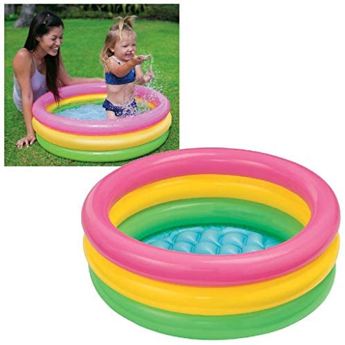 41cnKkNohkL. AC  - Intex Sunset Glow Baby Pool (34 in x 10 in)