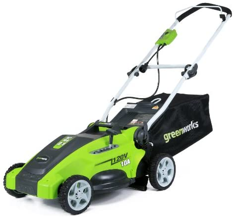 41critb8H4L. AC  - Greenworks 16-Inch 10 Amp Corded Electric Lawn Mower 25142