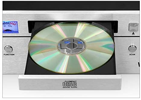 41hTjI tGoL. AC  - Innovative Technology Victrola Bluetooth CD Stereo System, Silver
