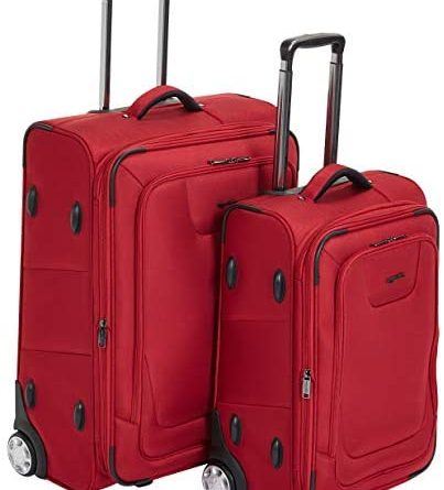 41jQgx YVvL. AC  403x445 - AmazonBasics Upright Spinner Expandable Softside Suitcase Luggage with TSA Lock and Wheels