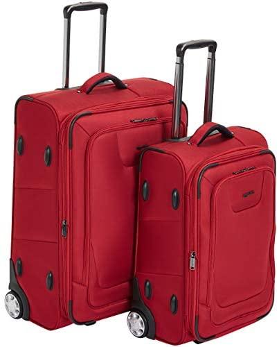41jQgx YVvL. AC  - AmazonBasics Upright Spinner Expandable Softside Suitcase Luggage with TSA Lock and Wheels