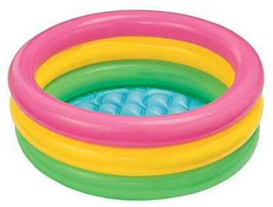 41jV14VtpVL. AC  - Intex Sunset Glow Baby Pool (34 in x 10 in)
