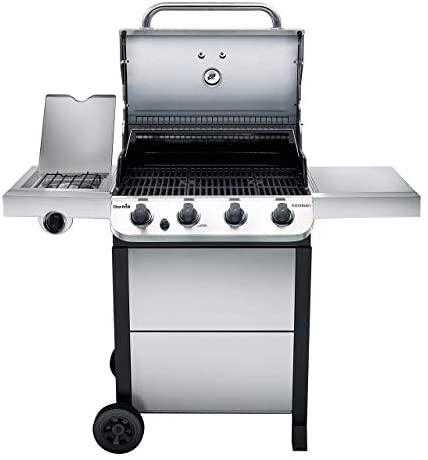 41lGgpfaiGL. AC  - Char-Broil 463377319 Performance 4-Burner Cart Style Liquid Propane Gas Grill, Stainless Steel