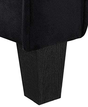 41mXQ8MzaWL. AC  - Lifestyle Solutions Collection Grayson Micro-fabric Sofa, Black