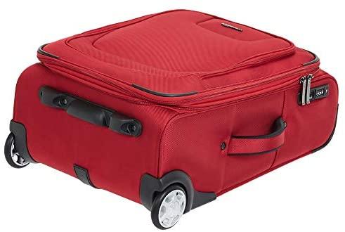 41p7f94lvgL. AC  - AmazonBasics Upright Spinner Expandable Softside Suitcase Luggage with TSA Lock and Wheels
