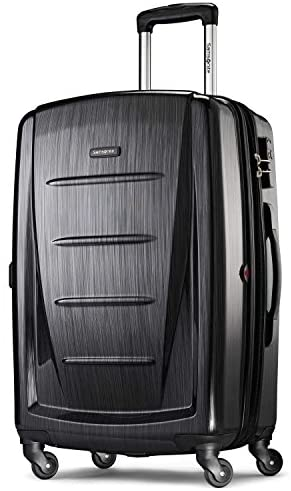 41v8iKZLLPL. AC  - Samsonite Winfield 2 Hardside Expandable Luggage with Spinner Wheels, Brushed Anthracite, Checked-Medium 24-Inch