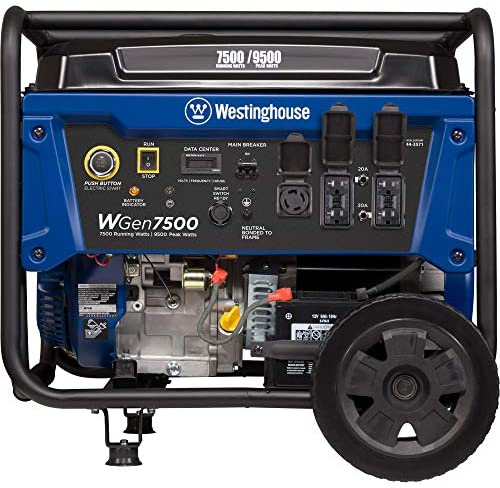 51+xzAK7uhL. AC  - Westinghouse WGen7500 Portable Generator with Remote Electric Start - 7500 Rated Watts & 9500 Peak Watts - Gas Powered - CARB Compliant - Transfer Switch Ready