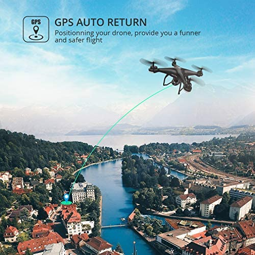 51+zUje2FfL. AC  - Holy Stone HS120D GPS Drone with Camera for Adults 2K UHD FPV, Quadcotper with Auto Return Home, Follow Me, Altitude Hold, Tap Fly Functions, Includes 2 Batteries and Carrying Backpack