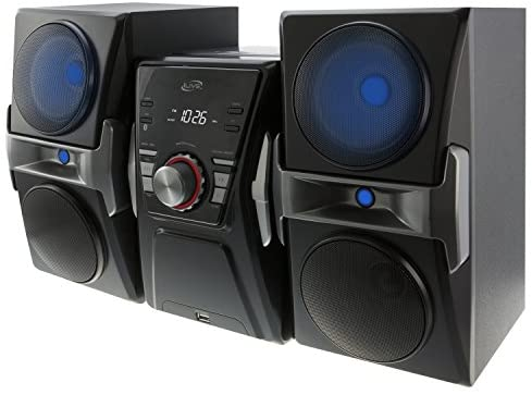 516djcXCEoL. AC  - iLive IHB624B Bluetooth CD and Radio Home Music System with Color Changing Lights, Includes Remote, Black