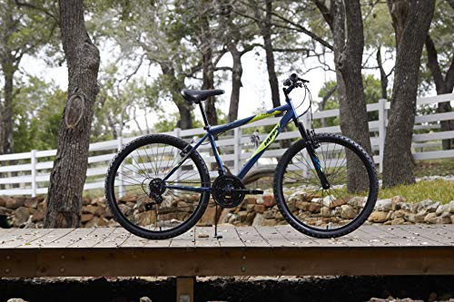 518ibKaiz4L - Huffy Hardtail Mountain Bike, Stone Mountain 24 inch 21-Speed, Lightweight, Dark Blue